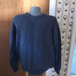 LLBean vintage men's cable knit sweater